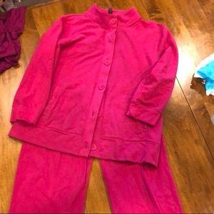 Quarter length sleeve and Capri bottoms